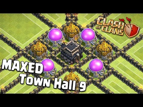 Clash of Clans - Maxed out Town Hall 9 [All level 10 Walls]