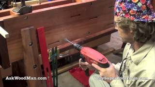 24/40 Installing Hanging Roubo Bracket • Welding For Woodworkers