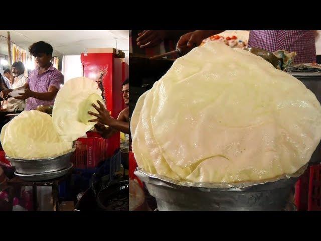 Street Food   Delhi Masala Papad   Simla Mirchi   ఇంత పెద్ద అప్పడం ఎలా చేయాలో తెలుసా..?