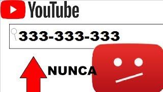 Nunca pesquise isso no YouTube