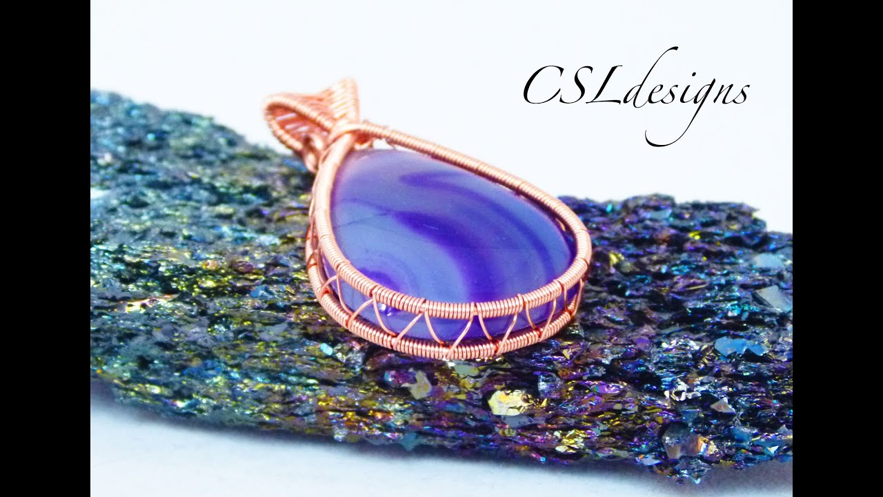 How To Wire Wrap A Cabochon   Open Bezel Wire Wrapped Cabochon Youtube