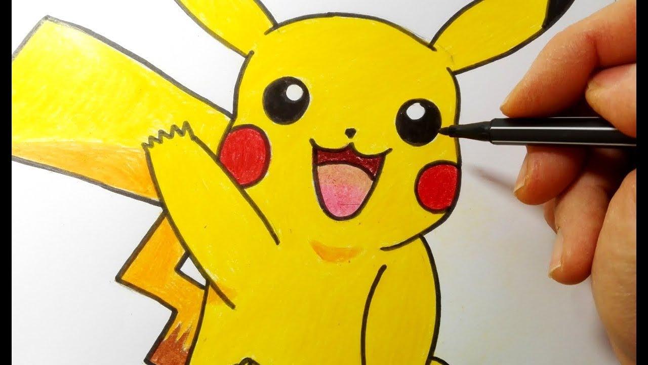 Come Disegnare Pikachu Pokemon Youtube