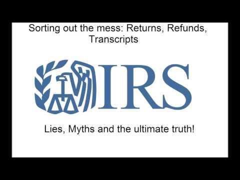 IRS Where's My Refund, Transcripts and all that jazz - YouTube