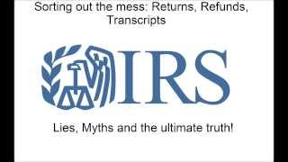 IRS Where s My Refund, Transcripts and all that jazz