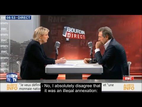 Annexation of Crimea was legitimate, - neo-fascist leader Marine Le Pen pleases her sponsor.