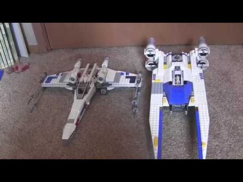 lego star wars x wing and u wing set modifications and. Black Bedroom Furniture Sets. Home Design Ideas