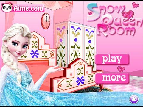 Frozen Elsa Games Snow Queen Room Fun Online Interior