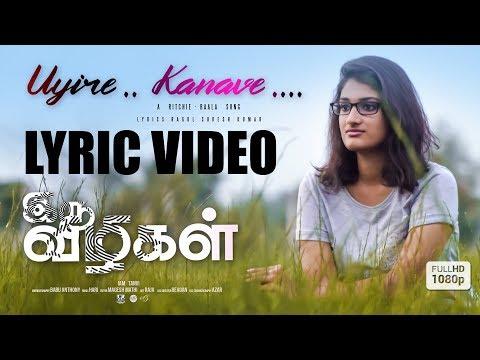 IRU VIZHIGAL | Uyire Kanave Single Track | Lyric Video | Ritchie-Baala | Ragul | Manikandan