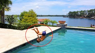 Four Year Old Does A FRONT FLIP In The Pool!!!