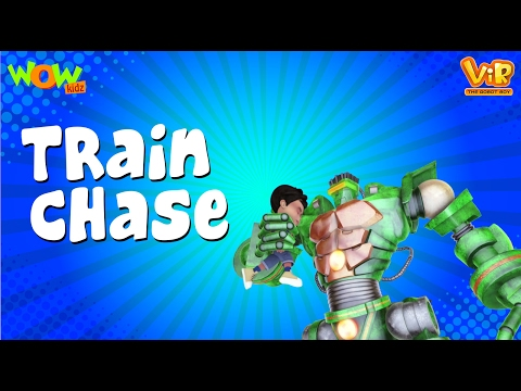 The Train Chase   Vir : The Robot Boy WITH ENGLISH, SPANISH & FRENCH SUBTITLES   WowKidz thumbnail