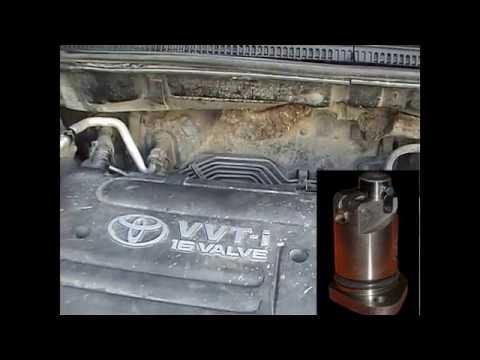 Toyota Corolla E120 звук двигателя до и после замены натяжителя цепи ГРМ