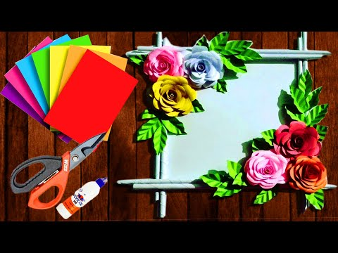 Paper  Flower Wall  Hanging | কাগজের ওয়ালমেট | Kagojer Wallate