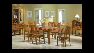 7pc Mission Bargain;dining Table & 6 Chairs Set;7pc Mission Bargain