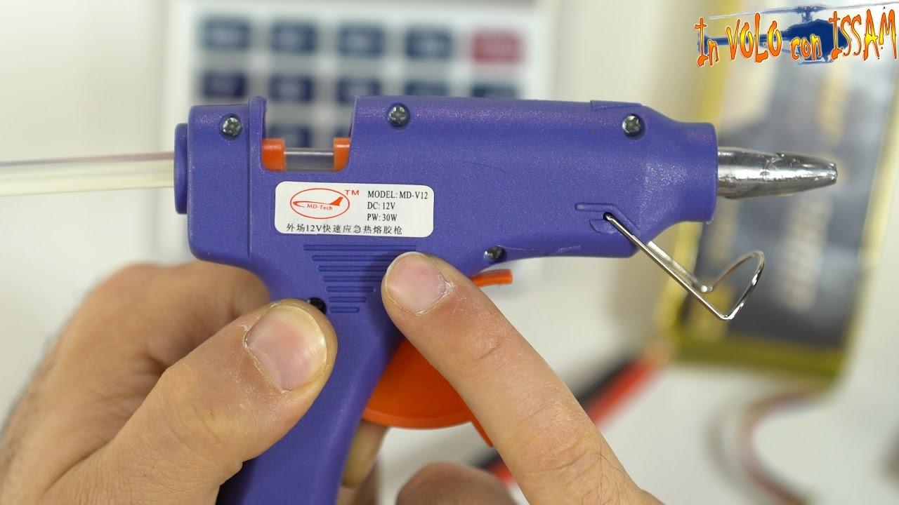 Pistola Incollatrice con 20 Stick di Colla per Fai da Te per scuola TUT Mini Pistola Colla a Caldo artigianato e riparazioni veloci in casa 20 W