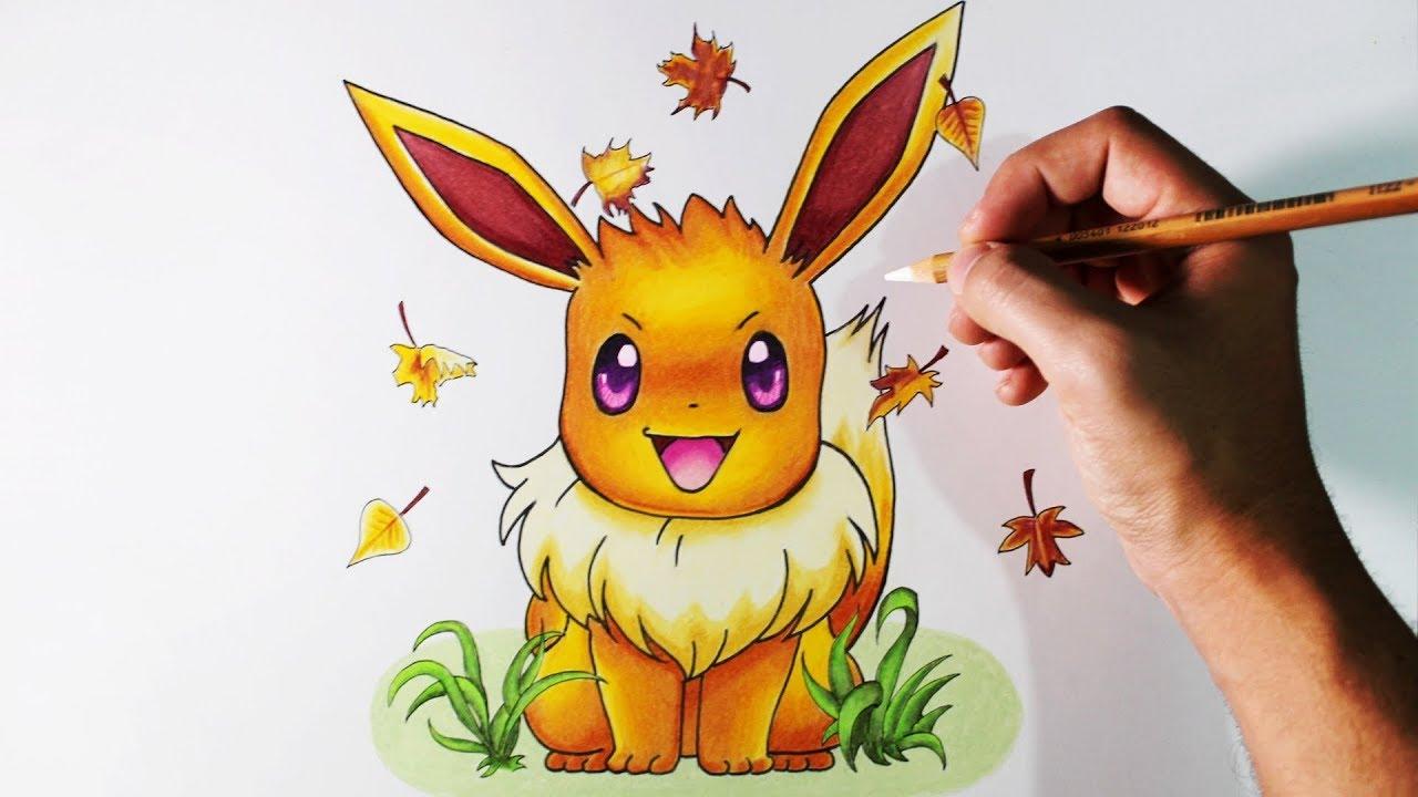 Dibujos De Pokemon A Color: Aprende A Dibujar A Eevee Con LÁPICES DE