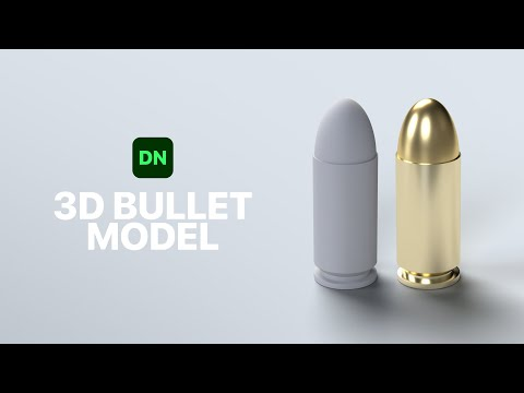 Making a 3D Bullet Model in Adobe Dimension