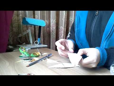 How to make an easy paper 3D kunai knife and. (Naruto)