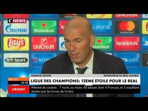 """ZIDANE : """"Ce que j'ai dit aux joueurs"""" pour Juventus-Real"""