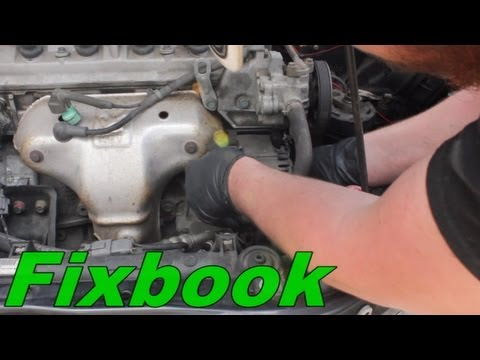 alternator remove replace how to honda accord