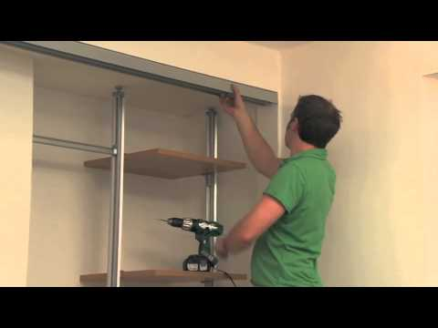 Fitting Made To Measure Sliding Wardrobe Door Tracks Youtube