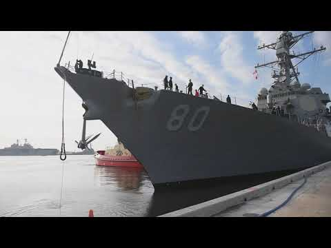 USS Roosevelt (DDG 80) Homeport Shift To Naval Station, Rota, Spain