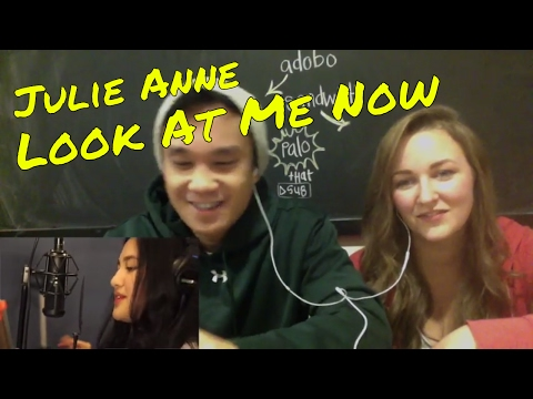 Julie Anne - Look At Me Now (Chris Brown) Filipino American Couple REACTION