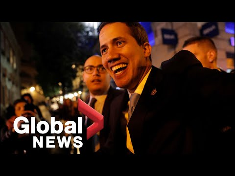 Venezuela's Guaido joins thousands of supporters in Madrid, Spain