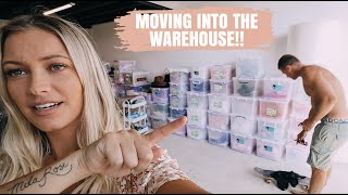 MOVING DAY!! MOVING EVERYTHING INTO THE WAREHOUSE... *AUSSIE MUM VLOGGER*