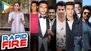 Alia Bhatt's mind-blowing RAPID FIRE on SRK, Salman, Ranbir, Varun, K Jo, Ranveer, Aamir