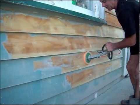Alderson Sander Stripping Weatherboards Youtube