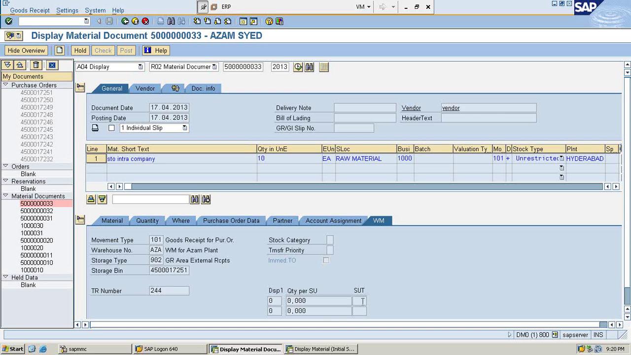 sap wm organization structure tutorials for beginners