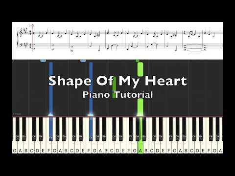 """""""Shape Of My Heart"""" Piano Tutorial"""