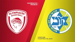 Olympiacos Piraeus - Maccabi Playtika Tel Aviv Highlights | Turkish Airlines EuroLeague, RS Round 4