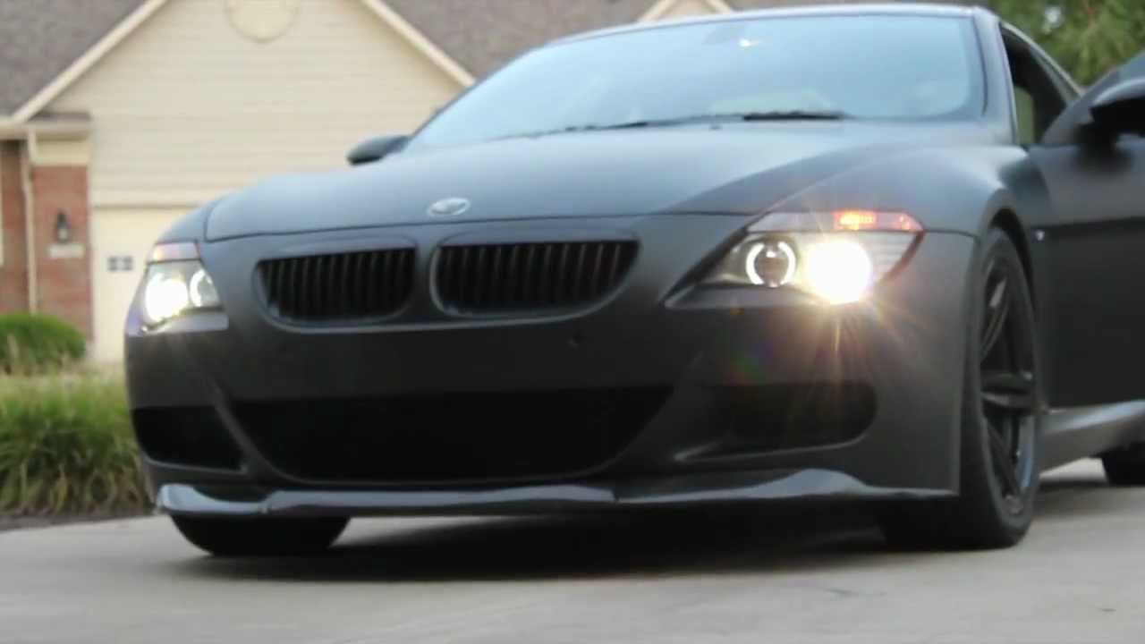 Matte Black BMW M6 - Inspiration - YouTube