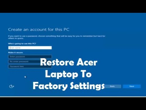 acer reinstall windows 7 oem