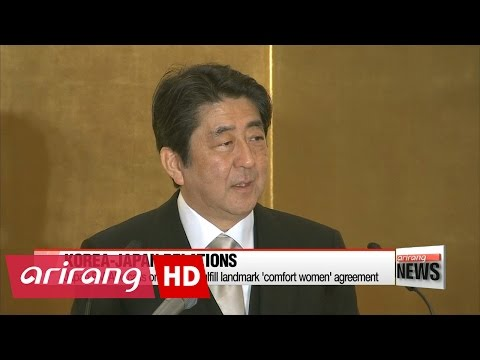 Memorial statue causes Abe to call on Korea to fulfil its part in 'Comfort Women' agreement