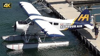 de Havilland DHC-2 Beaver Engine Start, Taxi and Take Off | Harbour Air C-GMKP