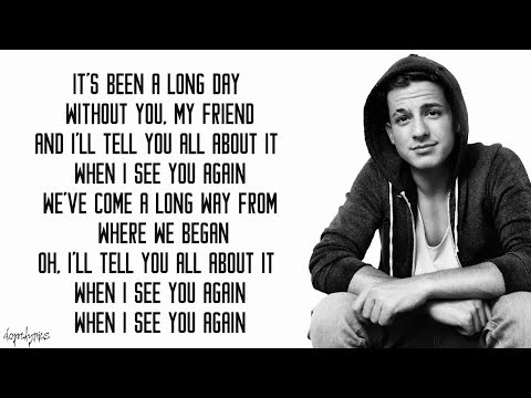 See You Again - Wiz Khalifa ft. Charlie Puth (Lyrics)