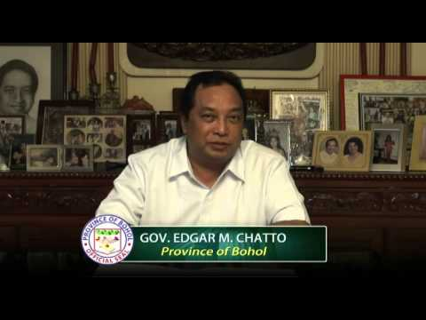 The Governor of the Province of Bohol, Atty. Edgar M. Chatto