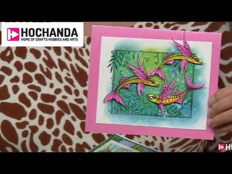Paper Crafts And Fabric Painting With Pink Ink Designs At Hochanda!
