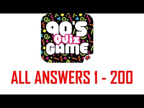 90's Quiz Game All Level Answers 1 - 200 ( Goxal Studios )