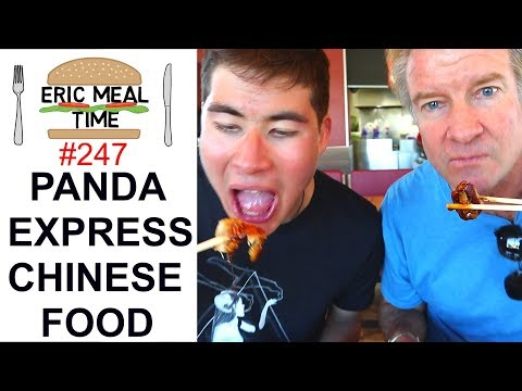 Panda Express Chinese Fast Food - Eric Meal Time #247