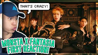 FIRST TIME REACTING TO MONSTA X 몬스타엑스 'FANTASIA' MV!