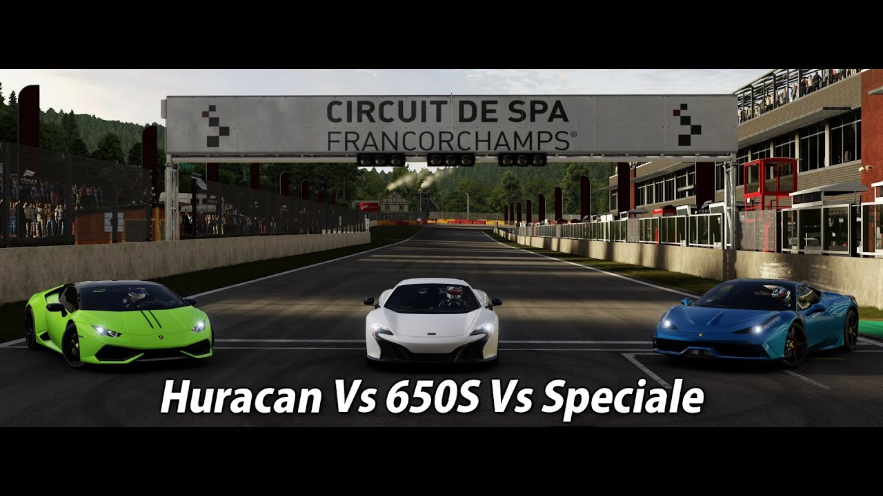 forza motorsport 6 battle episode 10 season finale huracan vs 650s vs spe. Black Bedroom Furniture Sets. Home Design Ideas