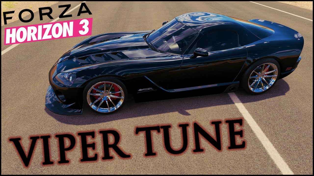 Dodge car tuning part 3 - My Awd Dodge Viper Grip Handling Tune Basic Tuning Guide Forza Horizon 3 Viper Build Fh3 Youtube