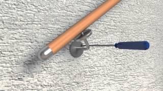 видео Поручни для лестницы и пристенные перила своими руками