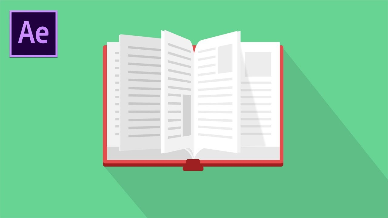 flash book animation turning pages