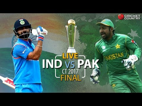 Live Score & Commenantary  - India vs Pakistan Final Match - ICC Champions Trophy |