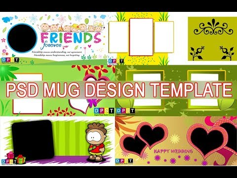 PSD MUG DESIGN TEMPLATE I PHOTOSHOP I DPST_HD - YouTube
