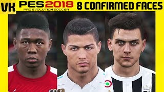 8 confirmed new faces in pes 2018!